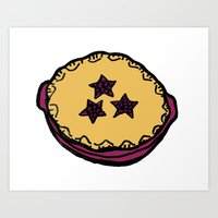 Huckleberry Pie - Idaho Art Print
