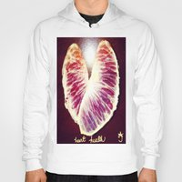 health Hoodies featuring Blood Red Orange Heart Health by ANoelleJay