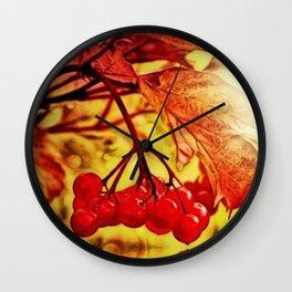 Honeysuckle Viburnum, Water's Edge Wall Clock