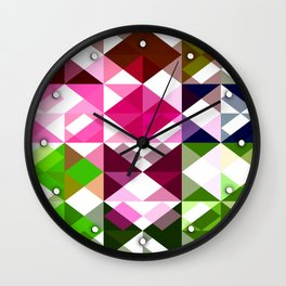Rosas Moradas 1 Abstract Triangles 1 Wall Clock