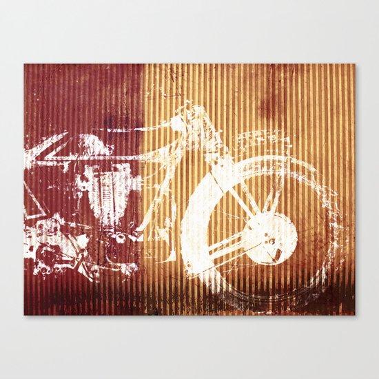Corrugated Speed Canvas Print
