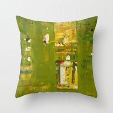 Iodine Green Abstract Art Modern Print Throw Pillow