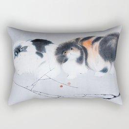 Curious kitty couple Rectangular Pillow