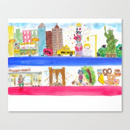 New York ! New York ! Canvas Print