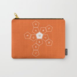 Orange Unrolled D12 Carry-All Pouch