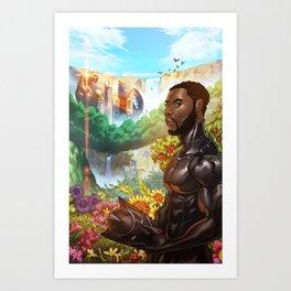 Black Panther the Warrior King Art Print