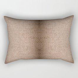 Beige burlap cloth texture abstract Rectangular Pillow