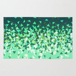 Green Disintegrate Rug