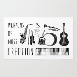 Weapons Of Mass Creation - Music Rug