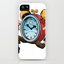 Clock Man Running iPhone Case