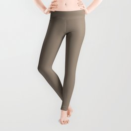 Chocolate Mousse Brown Solid Color Pairs with Sherwin Williams Heart 2020 Forecast Color Cocoa Whip Leggings