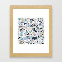 Pastel Terrazzo Framed Art Print