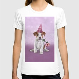 Drawing Puppy Jack Russell Terrier T-shirt