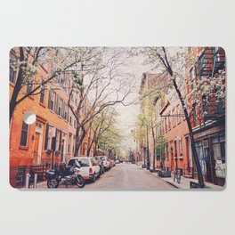 New York City - Springtime in the West Village Cutting Board