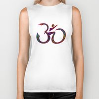 om Biker Tanks featuring OM by Tali Rachelle