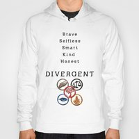 divergent Hoodies featuring DIVERGENT - ALL FACTIONS by MarcoMellark