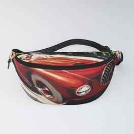 Vintage 1949 Le Comminges Grand Prix Racing Saint Gaudens Wall Art Fanny Pack