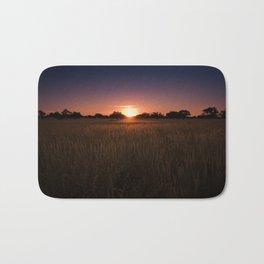 African Kalahari Sunset Bath Mat