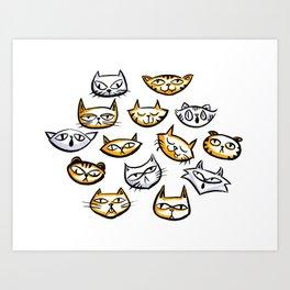 Cat Clowder Art Print