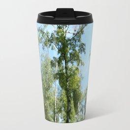 Nature. Blue Sky, Green Trees Travel Mug