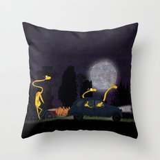 Voyage by night II (animal party) Throw Pillow