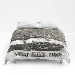 Great Falls - Montana - 1891 Comforters