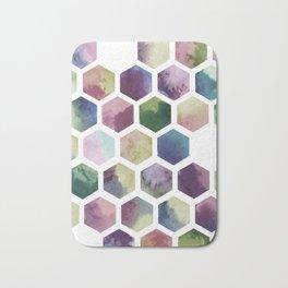 Antique Hexagons Bath Mat