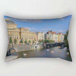 Sunny Day in Prague - View from Legion Bridge Rectangular Pillow