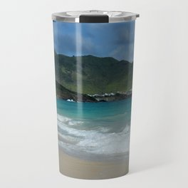 Clouds, Mountains and Ocean Travel Mug