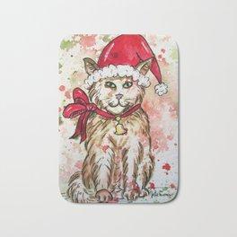 Santa Cat Bath Mat