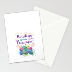 Reading is Beautiful Stationery Cards