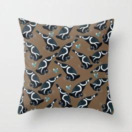 Ribbon seal pattern Throw Pillow