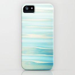 Water Ripples Photography, Aqua Blue Ocean Abstract Art, Turquoise Sea, Seascape iPhone Case