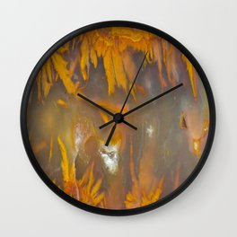 Mexican Flame Agate Wall Clock