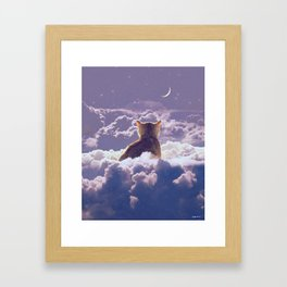 i wish you know how much space you occupy in my mind. Framed Art Print