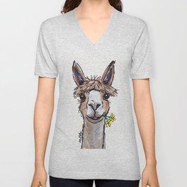 Lycoming the Alpaca, Alpaca Art Unisex V-Neck
