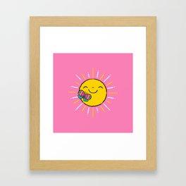 Feels Like Sunshine Framed Art Print