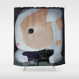 Stuffy Fluffy (Bunny in a Purple Room) Shower Curtain