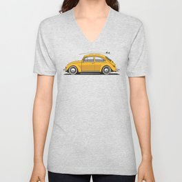 Legendary Classic Surf Bug Vintage Retro Cool German Car Wall Art and T-Shirts Unisex V-Neck
