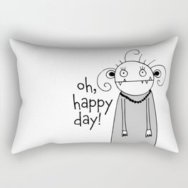 Cute zombie illustration Rectangular Pillow