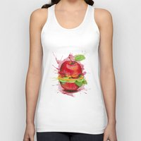 burger Tank Tops featuring burger by Boho déco