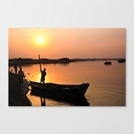 Sunset on Sacred Yamuna River Canvas Print