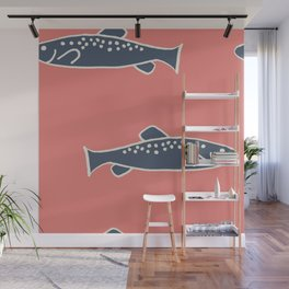 Swimming with the Fishies Wall Mural