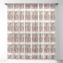 Save More, Reprint of British Wartime Poster Sheer Curtain
