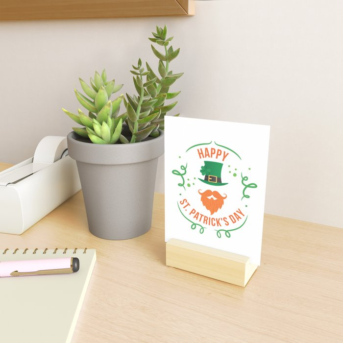 Funny Happy St Patricks Day Leprechaun Mini Art Print