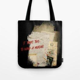 Murder Board Tote Bag