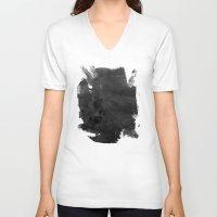 """surrealism V-neck T-shirts featuring """"Internal Decimation"""" Dark Surrealism by judgehydrogen"""