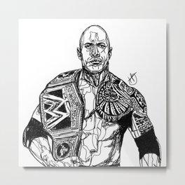 Dwayne 'The Rock' Johnson Metal Print