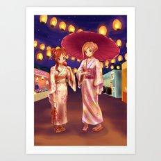 Matsuri Night Art Print