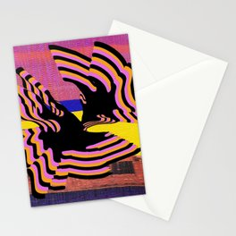 coral warp Stationery Cards